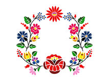 Kalocsai pattern. A beautiful hungarian Kalocsai floral pattern Royalty Free Stock Photo