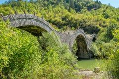 Kalogeriko stone bridge. Central Zagori, Greece Stock Images