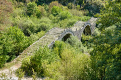 Kalogeriko stone bridge. Central Zagoria, Greece Stock Photo
