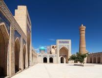 Kalon moské och minaret - Bukhara - Uzbekistan arkivbild
