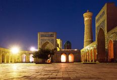 Kalon mosque and minaret - Bukhara - Uzbekistan Royalty Free Stock Photos