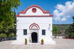 Kalopetra monaster, wyspa Rhodes, Rodos, Grecja obraz stock