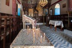 Kalopetra monaster, wyspa Rhodes, Rodos, Grecja wnętrze obraz royalty free