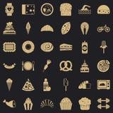 Kalorie ikon ustawiać, prosty styl ilustracja wektor