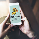 Kalorien der ungesunden Fertigkost ungesunde Korpulenz-Konzept- lizenzfreie stockfotos