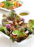 Kalorienarmer Salat mit Pilzen Stockbild