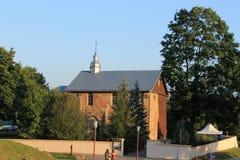 Kalozhskaya kyrka i Grodno fotografering för bildbyråer