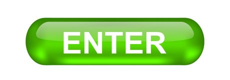 Enter Button. Illustration, data. Web design icon symbol royalty free illustration