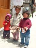 Kalpa谷的孩子在印度 免版税库存照片