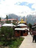 Kalpa镇在喜马偕尔邦 免版税库存照片