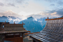 Kalpa Temple Roof Kailash Mountain Royalty Free Stock Photography