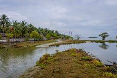 Kalpitiya-Lagune in der Flut, Sri Lanka stockfotos