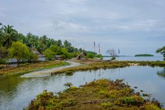 Kalpitiya-Lagune in der Flut, Sri Lanka stockfoto