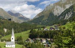 Kals am Grossglockner in Oostenrijk, Europa royalty-vrije stock foto