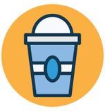 Kalt, lokalisierte Getränk Vektor-Ikone, die leicht ändern oder redigieren kann lizenzfreie abbildung