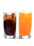 Kalt-trinken Sie Gläser lizenzfreie stockbilder
