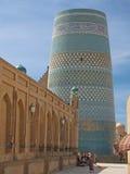 Kalta尖塔在Khiva,乌兹别克斯坦 免版税图库摄影
