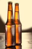 Kalte Bierflaschen Stockfotos