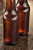 Kalte Bierflaschen Neues Bierflaschekonzept Stockbild
