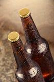 Kalte Bierflaschen Neues Bierflaschekonzept Lizenzfreies Stockfoto