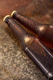 Kalte Bierflaschen Neues Bierflaschekonzept Lizenzfreie Stockfotos