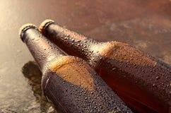 Kalte Bierflaschen Neues Bierflaschekonzept Stockbilder