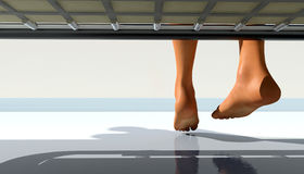 Kalte Füße Stockbild