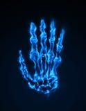 Kalte Feuer-Hand lizenzfreie abbildung
