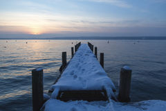 Kalte neue Glättung im Januar am likeside Lizenzfreies Stockbild