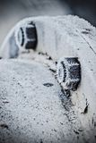 Kalte Schraube am Winter Stockfotos