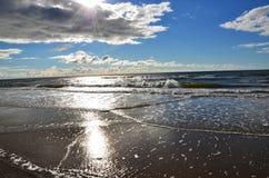 Kalte Sonne der Ostsee Lizenzfreies Stockbild