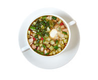 Kalte Suppe, okroshka Stockbild