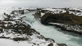 Kalte Wasserfälle in Island 4K stock footage