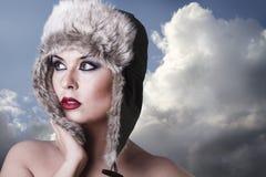 Kalte Winterkönigin Stockfotos