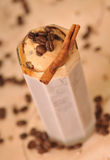 Kalter Eiskaffee mit Schokolade Stockbilder