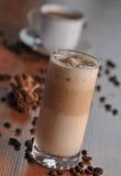 Kalter Eiskaffee mit Schokolade Lizenzfreies Stockbild