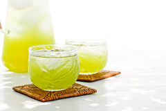 Kalter grüner Tee Stockbild