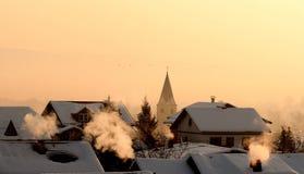 Kalter Morgen Stockfotografie