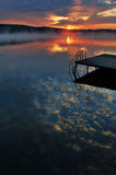 Kalter Sonnenaufgang Lizenzfreie Stockfotografie