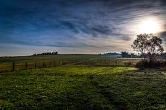 Kalter Sonnenaufgang Stockfotografie
