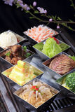 Kalter Teller des chinesischen Lebensmittels Stockfoto