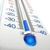 Kalter Thermometer Stockfotografie