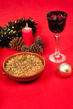 Kalter Weihnachtssalat Stockfotos
