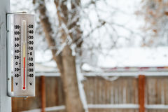 Kalter winterlicher Tag draußen Stockfoto