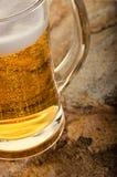 Kaltes Bier im Glas Neues Bierkonzept Stockfotografie