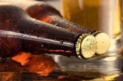 Kaltes Bier Neues Bierkonzept Stockbild