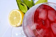Kaltes Getränk mit Campari Stockfoto