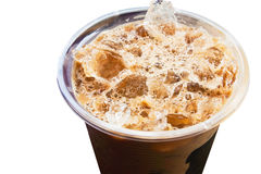 Kaltes Kaffeegetränk mit Eis Stockbilder