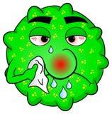 Kaltes Virus ist krank stock abbildung