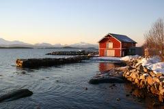 Kaltes Weihnachten in Norwegen Stockbilder